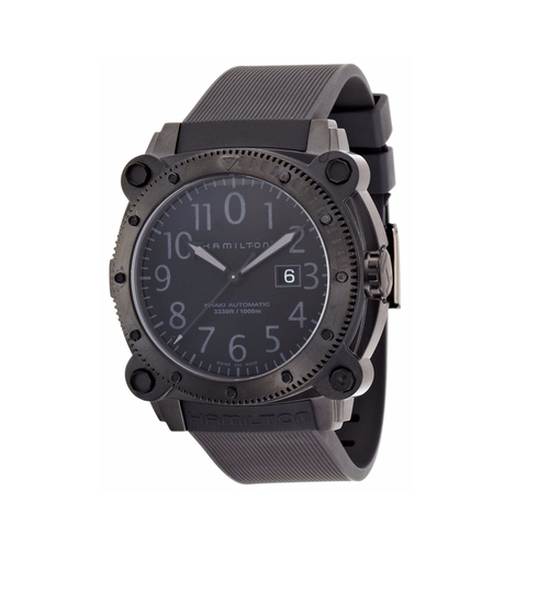 Men's H78585333 Khaki Navy Belowzero Black Dial Watch by Hamilton in The Martian