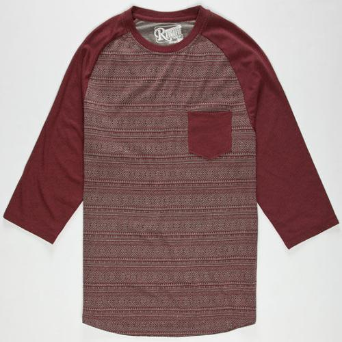 Block II Mens Baseball Tee by Retrofit in Wish I Was Here