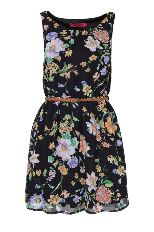 Floral Chiffon Skater Dress by Sophie in Max