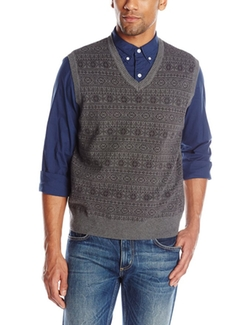 Men's Fairisle Vest by Savane in Sixteen Candles