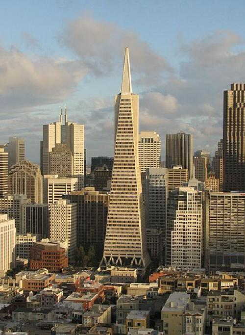 Transamerica Pyramid San Francisco, California in Godzilla
