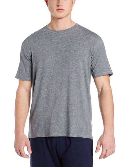 Short Sleeve Crew Neck Knit Lounge Tee Shirt by Derek Rose in Sex and the City 2