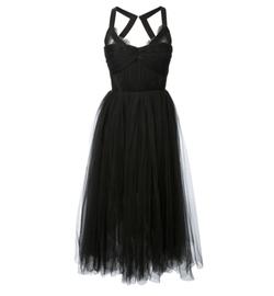 Black Maysa Midi Dress by Maria Lucia Hohan in Pretty Little Liars