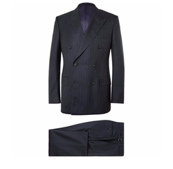 Harry Slim-Fit Pinstriped Super 120s Wool And Cashmere-Blend Suit by Kingsman for Mr Porter in Kingsman: The Golden Circle