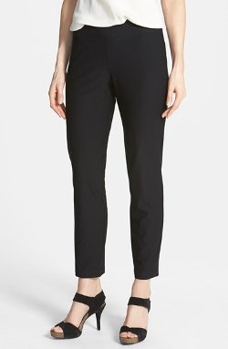 Slim Ankle Pant by Eileen Fisher in Blackhat