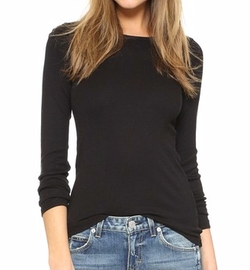 1x1 Crew Neck Tee Shirt by Splendid in Keeping Up With The Kardashians