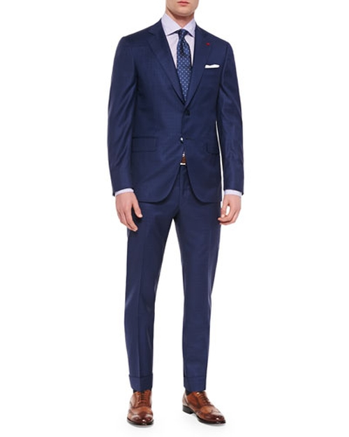 Box Check Two-Piece Suit by Isaia in Suits