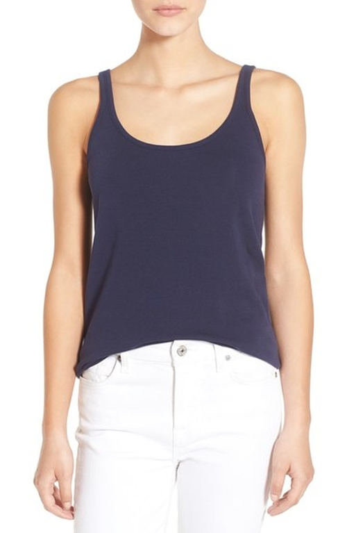 Stretch Cotton Tank Top by Vineyard Vines in Rosewood - Season 1 Episode 21