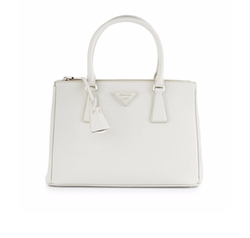 Saffiano Lux Small Double-Zip Tote Bag by Prada in Molly's Game