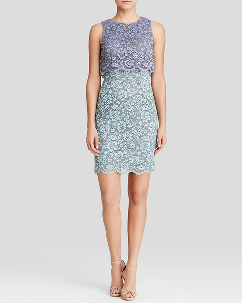 Color Block Lace Dress by Aqua in The Departed