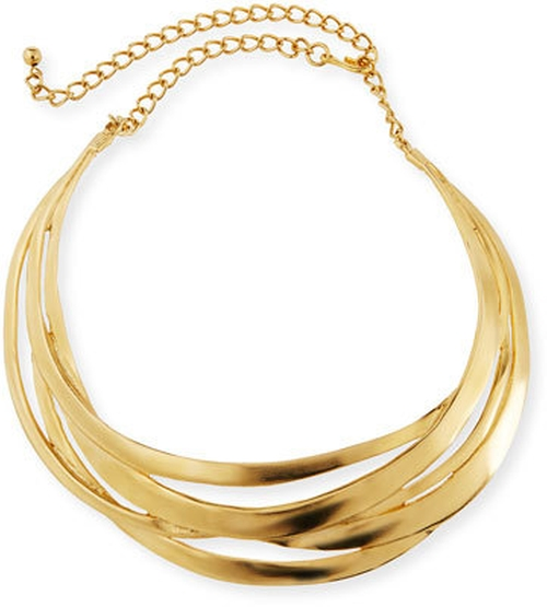Cutout Golden Collar Necklace by Kenneth Jay Lane in Batman v Superman: Dawn of Justice