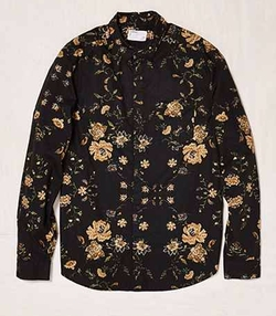 Ornate Floral Button-Down Shirt by Your Neighbors in New Girl