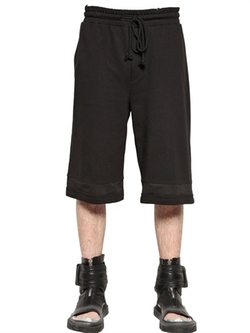 Mesh Details On Cotton Jersey Shorts by D By D in Ballers