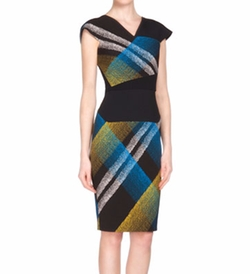 Beadle Plaid Beaded Crepe Sheath Dress by Roland Mouret in How To Get Away With Murder