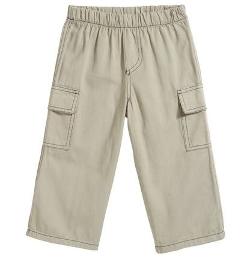 Soft Twill Cargo Pants by City Threads in Boyhood