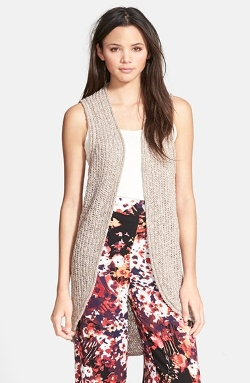 Open Front Marled Vest by Sun & Shadow in The Visit