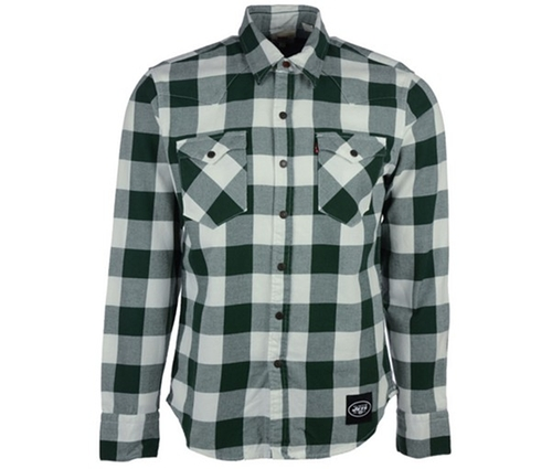 Men's New York Jets Plaid Button-Up Shirt by Levi's in Modern Family - Season 7 Episode 3