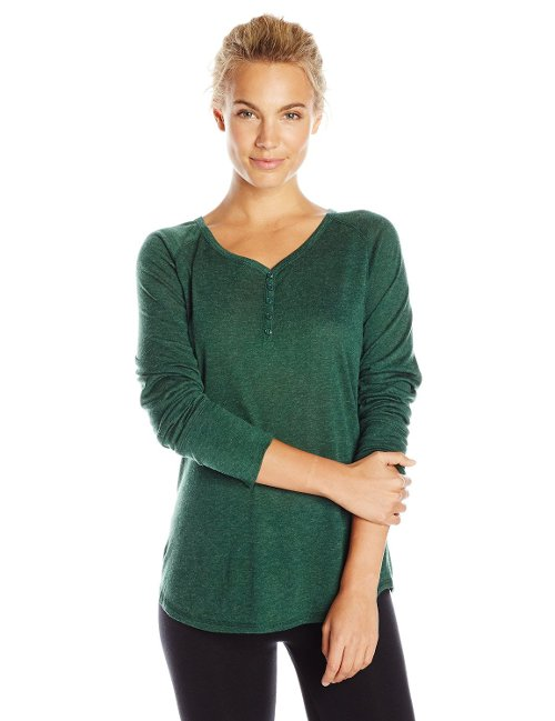 Women's Heidi Henley Long Sleeve Shirt by KAVU in If I Stay