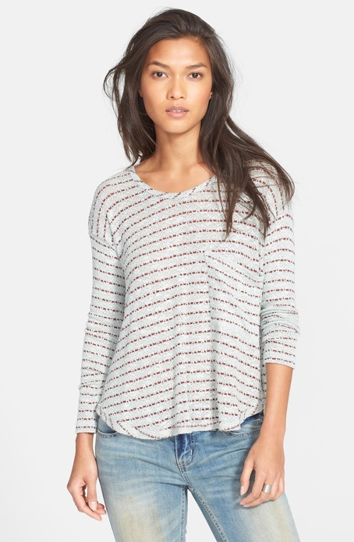 'Angel Island' Stripe Hacci Sweater by Free People in The Visit