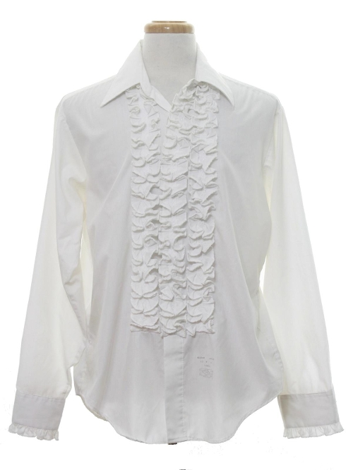 Lion of Troy Ruffled Tuxedo Shirt by Rusty Zipper in The Hangover