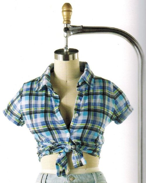Selected by Patricia Field (Costume Designer) by Vintage Plaid Button Shirt in Sex and the City 2