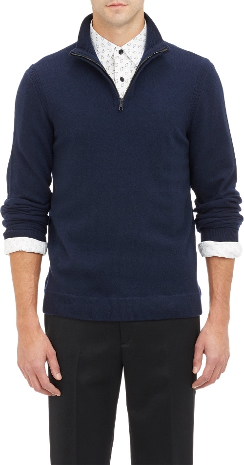 Half-Zip Pullover Sweater by Rag & Bone in Entourage