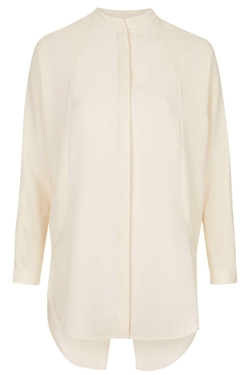 Textured Collarless Shirt by Topshop in Krampus