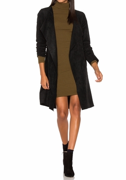 Aubrey Suede Wrap Coat by Velvet by Graham & Spencer in Gypsy