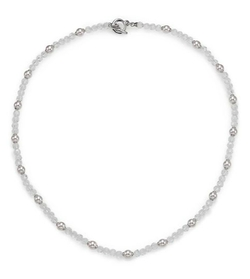 Crystal & Sterling Silver Beaded Necklace by Majorica in GoldenEye