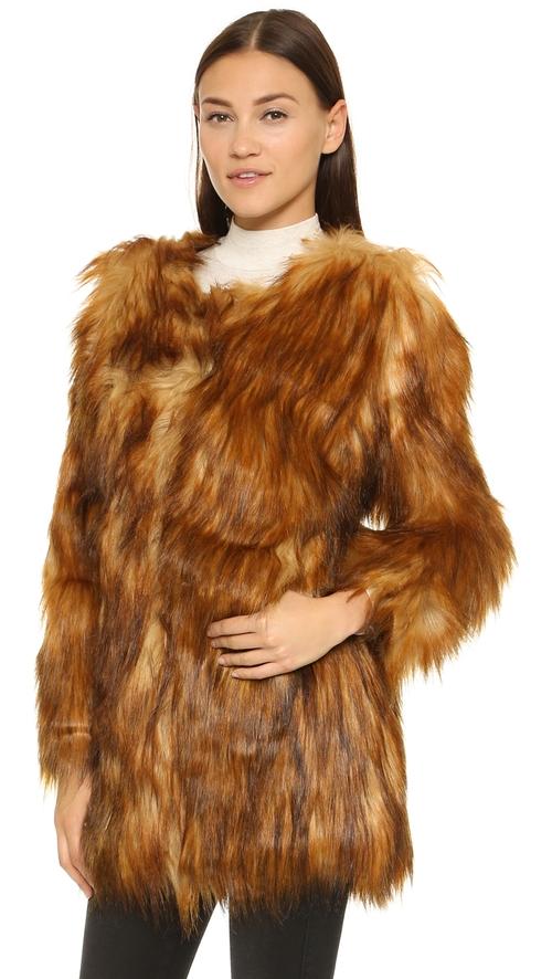 Wanderlust Coat by Unreal Fur in On Her Majesty's Secret Service