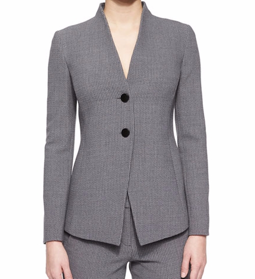 Two-Button Collarless Blazer by Armani Collezioni in The Good Wife - Season 7 Episode 17
