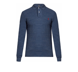Long-Sleeves Cotton-Piqué Polo Shirt by Polo Ralph Lauren in Logan