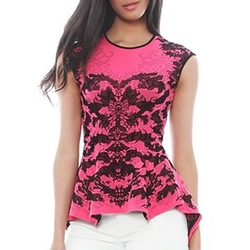 Scorpio Lace Jacq Peplum Top by RVN in Pretty Little Liars