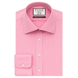 Derick Plain Slim Fit Button Cuff Shirt by Thomas Pink in Grease