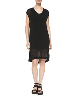 Swift Semi-Sheer Dress by Helmut Lang	 in Spy