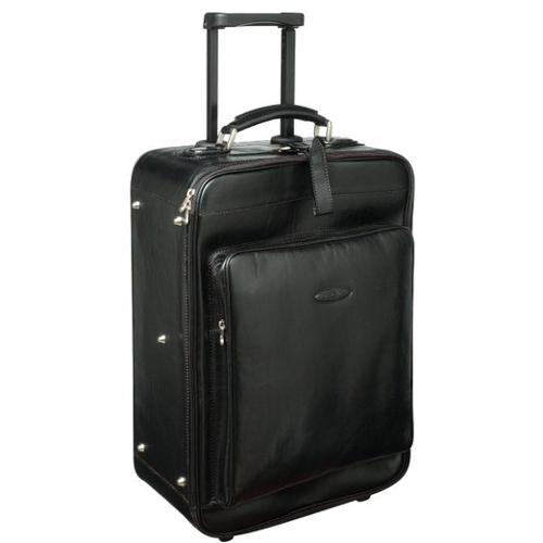 Luxury Leather Wheeled Luggage by Maxwell Scott in The Other Woman