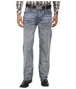 Relax Straight Wash Denim Jeans by Rock and Roll Cowboy in Begin Again
