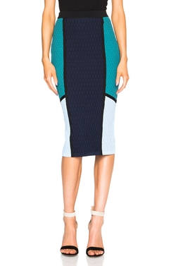 Color-Block Textured-Knit Skirt by Jonathan Simkhai in Fuller House