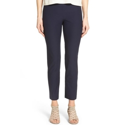 Stretch Crepe Slim Ankle Pants by Eileen Fisher in The Boss