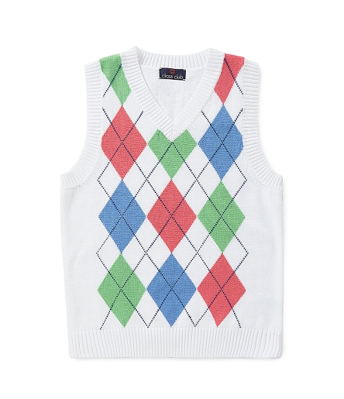 Argyle Vest by Class Club in The Overnight