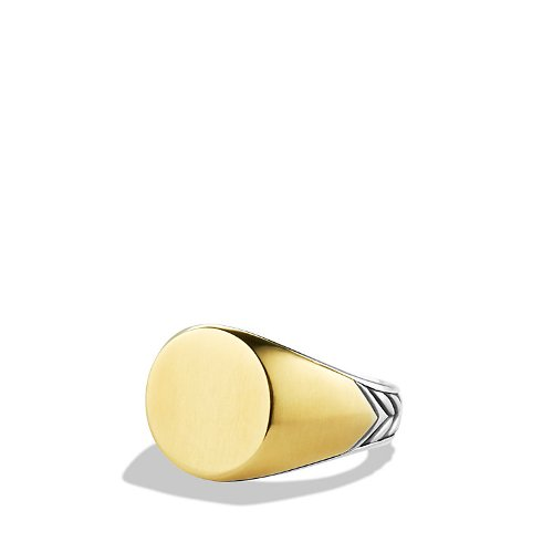 Chevron Signet Ring by David Yurman in The Counselor