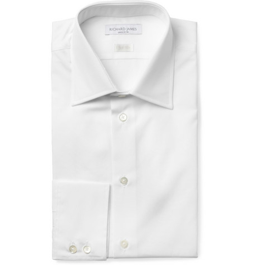 Cotton-Poplin Shirt by Richard James in Entourage