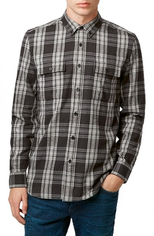 Plaid Twill Shirt by Topman in Cabin in the Woods