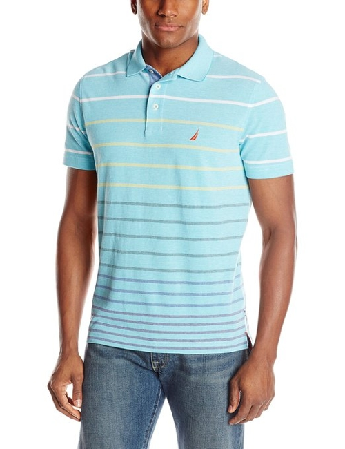 Men's Stripe Polo Shirt by Nautica in Unfriended