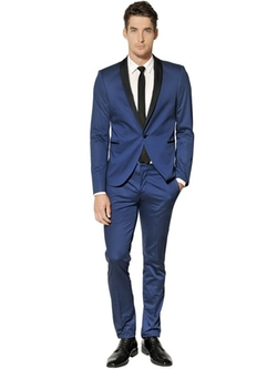 Stretch Cotton Satin Tuxedo Suit by The Suits in Get On Up