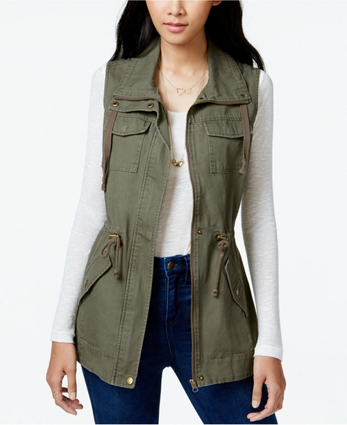 Cargo Vest by American Rag  in Whiskey Tango Foxtrot