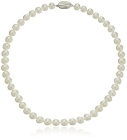 White Freshwater Cultured Pearl Necklace by Honora in The Good Wife
