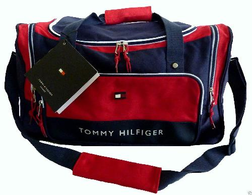Large Overnight Duffle Carry On Gym Bag Navy Blue Red by Tommy Hilfiger in Million Dollar Arm