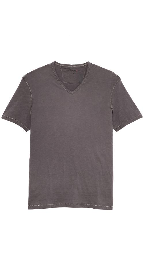 Short Sleeve Slub V Neck T-Shirt by John Varvatos Star USA in Wish I Was Here