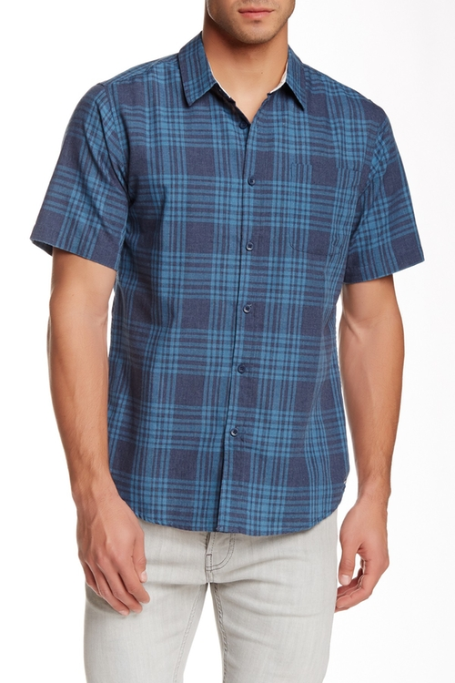 Redneck Woven Trim Fit Shirt by Ezekiel  in Crazy, Stupid, Love.
